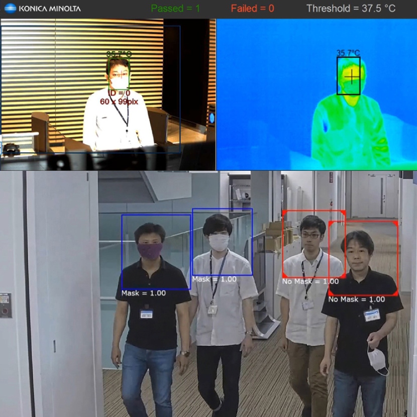 (In JP Only) Announcing Video Surveillance System To Support Preventing Spread Of Infection Diseases - Visualizing Risk Of Infection That Is Overlooked By Human Eye, By Partnering With Konica Minolta