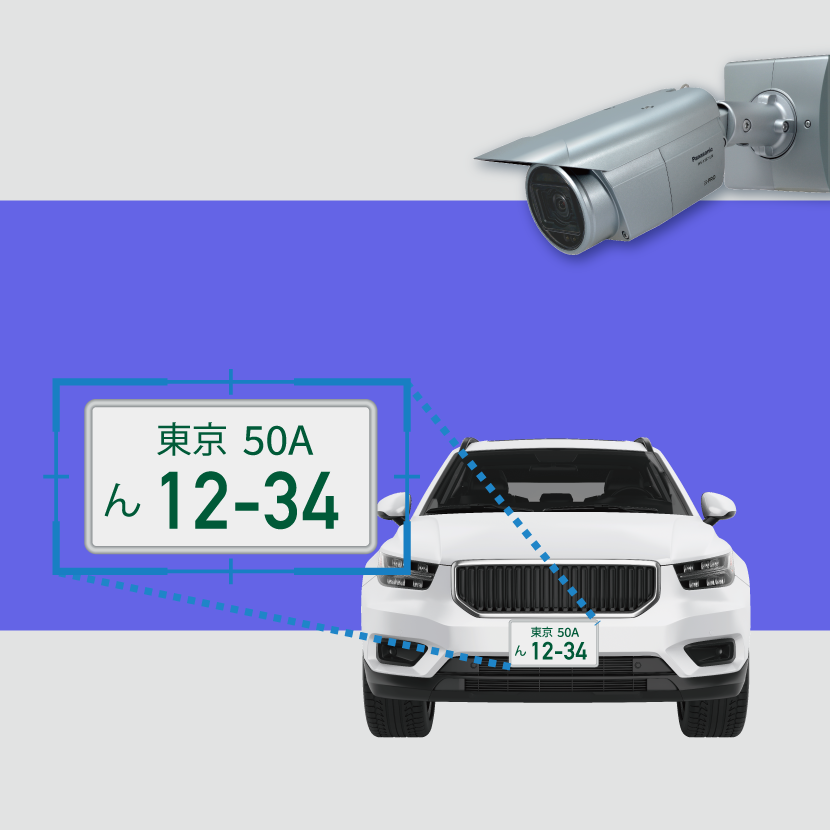 (In JP Only) AI Network Camera with License Plate Recognition System Is Adopted To The